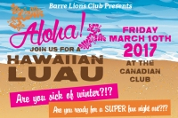 Aloha! Hawaiian Luau @ The Canadian Club